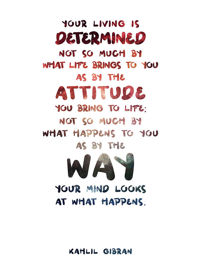 Kahlil Gibran - Quote On Life 02 - Typographic Print - Attitude, Mind Mixed Media