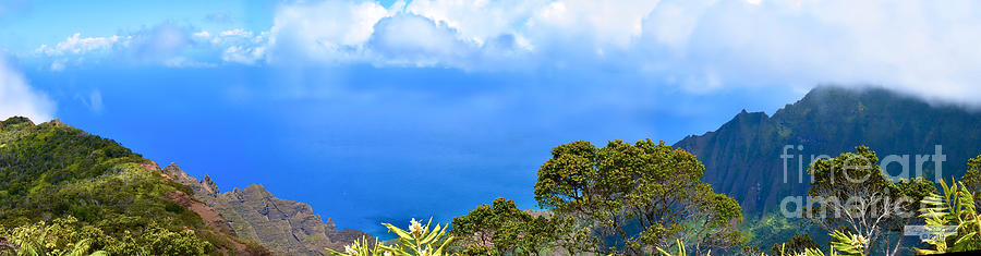 Kalalau Lookout Pano 1 by Gary F Richards