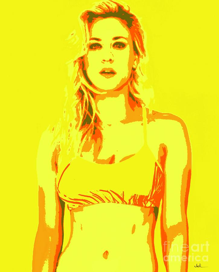 Kaley Painting - Kaley Cuoco 2021 by Jack Bunds