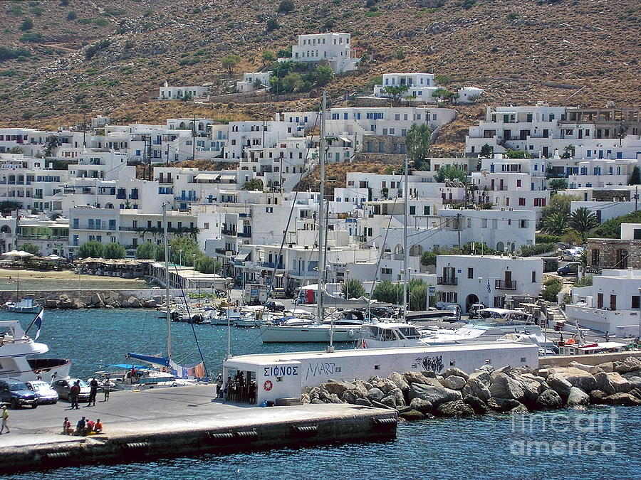 Sifnos Photograph - Kamares port, Sifnos by Paul Boizot