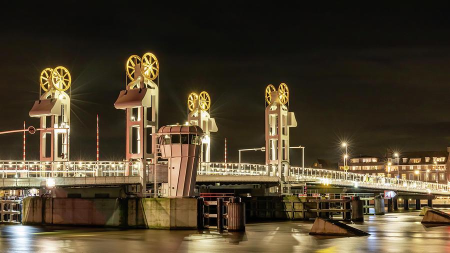 Detail Photograph - Kampen City Bridge by Anjo Ten Kate