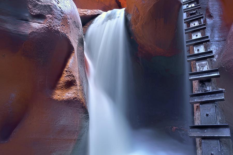 Desert Falls Photograph - Kanarran Sandstone Spirit Guardian by Heidi Fickinger