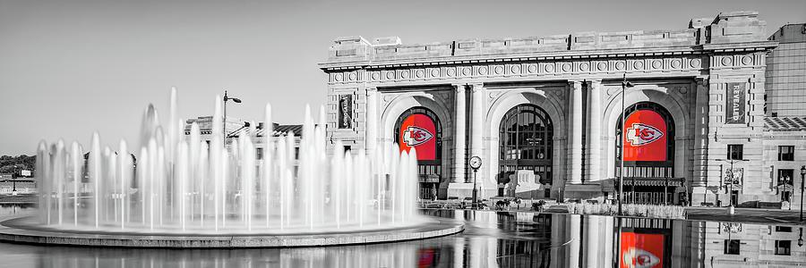 Kansas City Champion Panorama - Chiefs Selective Coloring Photograph