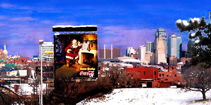 City Photograph - Kansas City Skyline at Christmas by Steve Karol