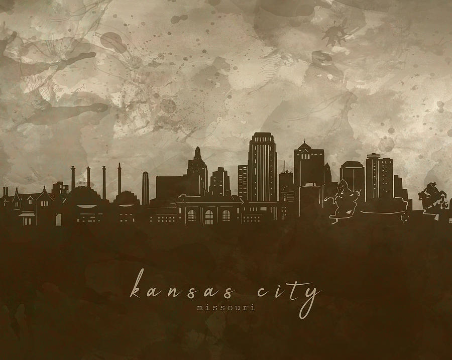 Kansas City Skyline Panorama 4 Digital Art