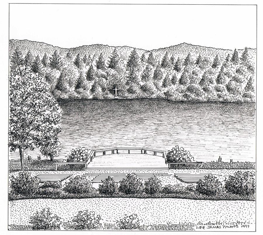 Kanuga Lake Drawing by Lee Pantas
