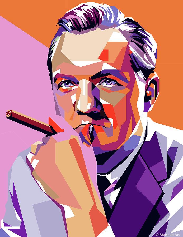 Karl Malden Painting