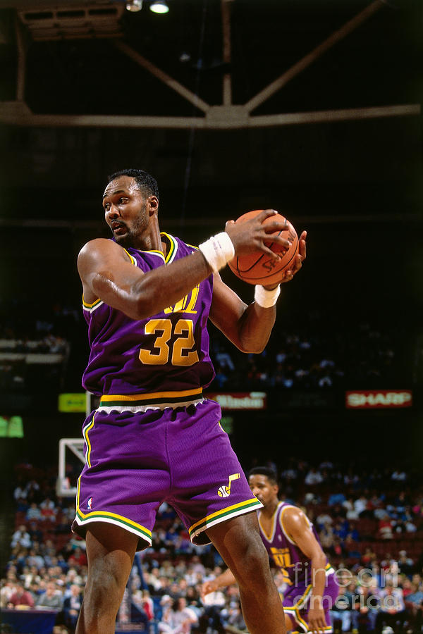 Karl Malone Photograph by Nathaniel S. Butler