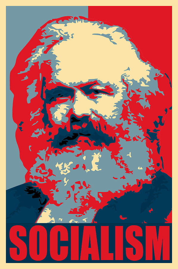 Karl Marx Socialist Poster Russia Moscow Photography Print