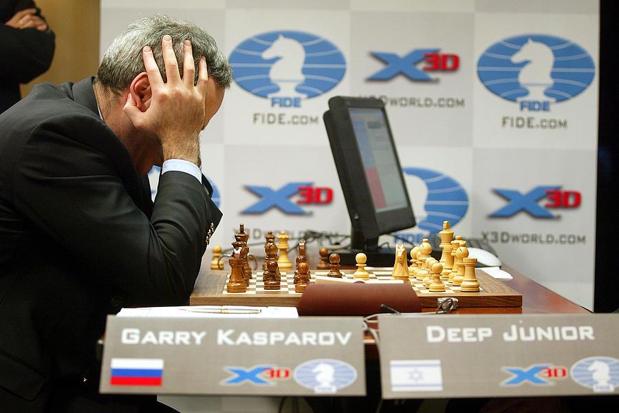 Kasparov Versus Deep Junior Photograph by Mario Tama