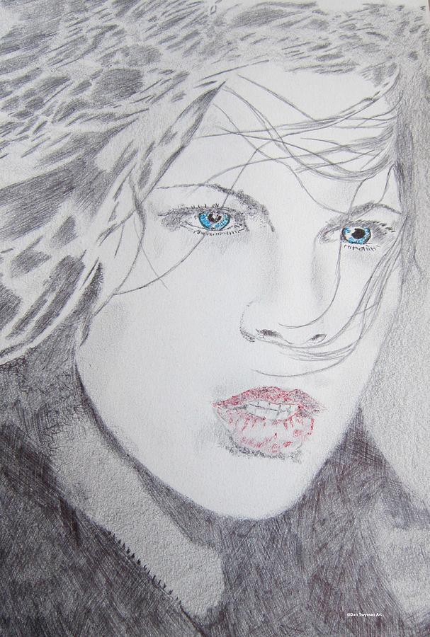 Kate Beckinsale Underworld Drawing