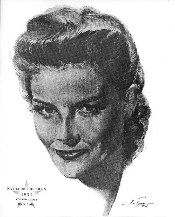 Katharine Hepburn By Volpe Drawing