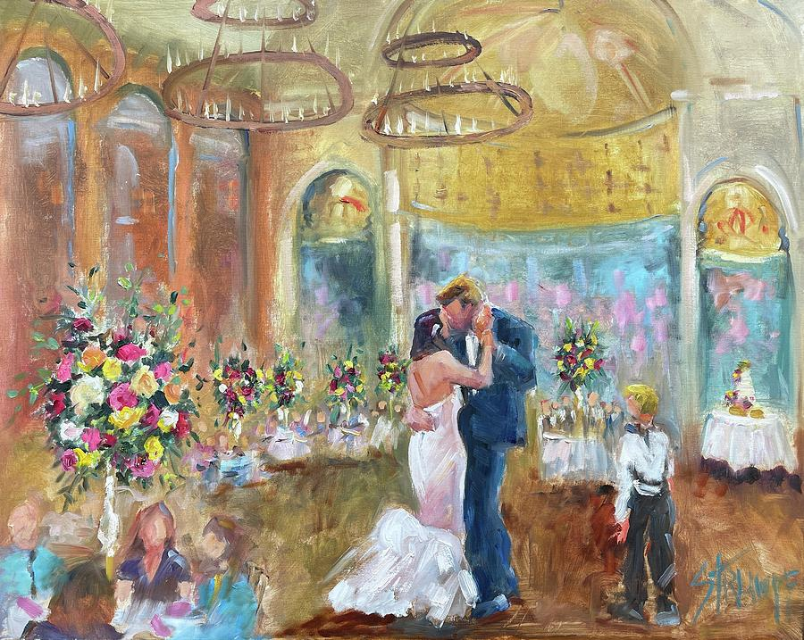 Wedding Painting - Katherine and Christian by Gina Strumpf