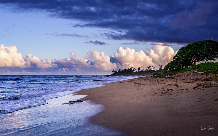 Kauai Beach At Twilight by Steven Sparks