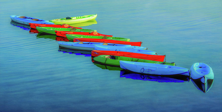 Kayak Colors by Marcy Wielfaert