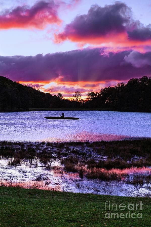 Kayaking at Sunrise by Dan Carmichael