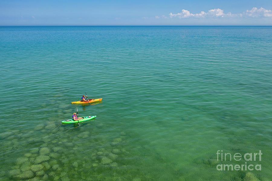 Kayaks On Lake Huron Photograph