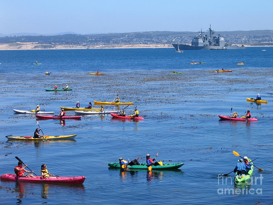 Kayaks Photograph - Kayaks On Monterey Bay by James B Toy