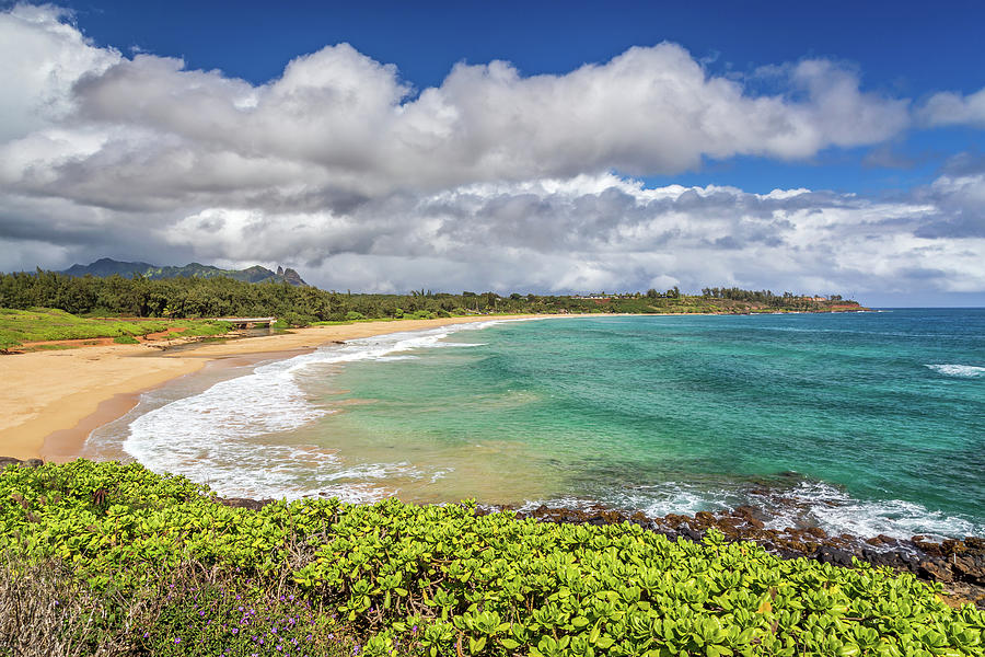 Kealia Beach On The Hawaiian Island Of Kauai Photograph