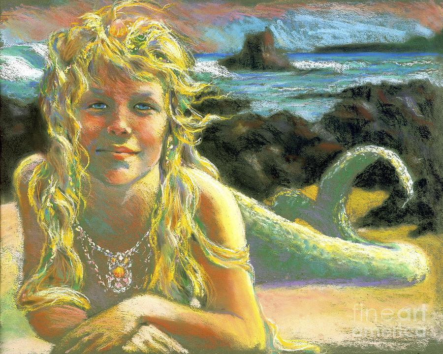 Mermaid Painting - Kealia Mermaid by Isa Maria