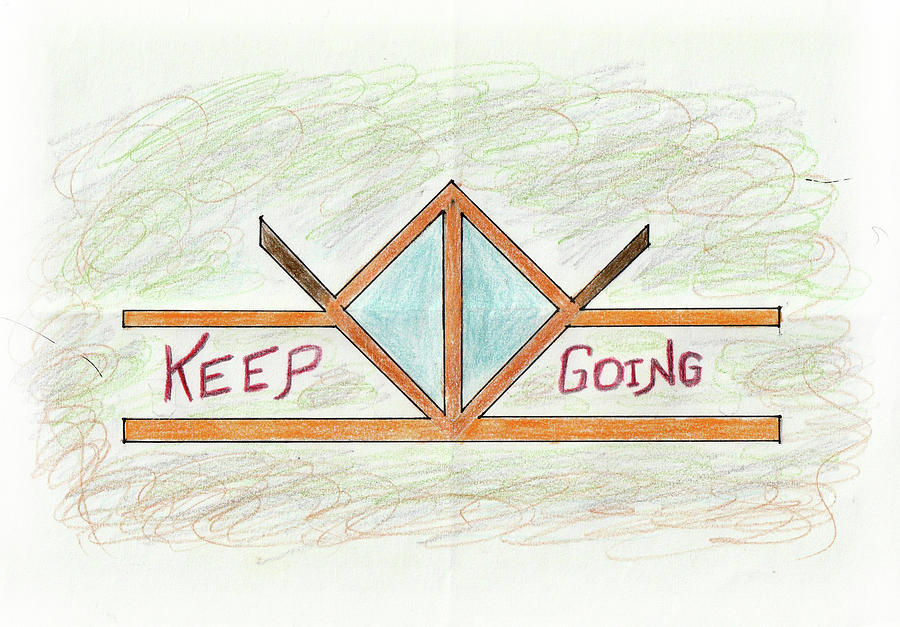 Keep Going Drawing - Keep Going by Sandeep Choudhary