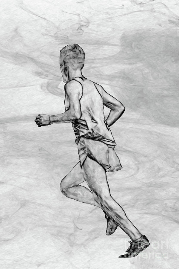 Keep On Running Sketch Digital Art