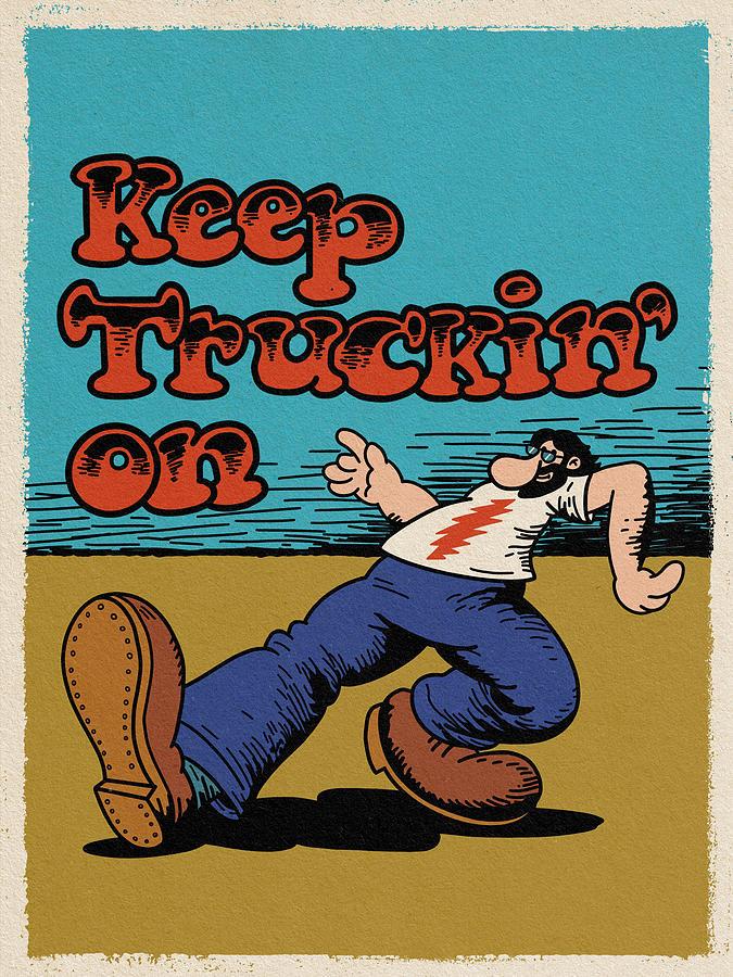 Grateful Dead Digital Art - Keep truckin on... by Geraldo Bezerra