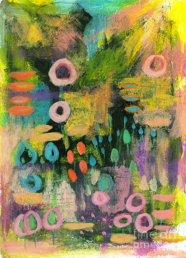 Abstract Landscape Painting - Keeping the Faith 2 Abstract Landscape Painting Flowers by Itaya Lightbourne