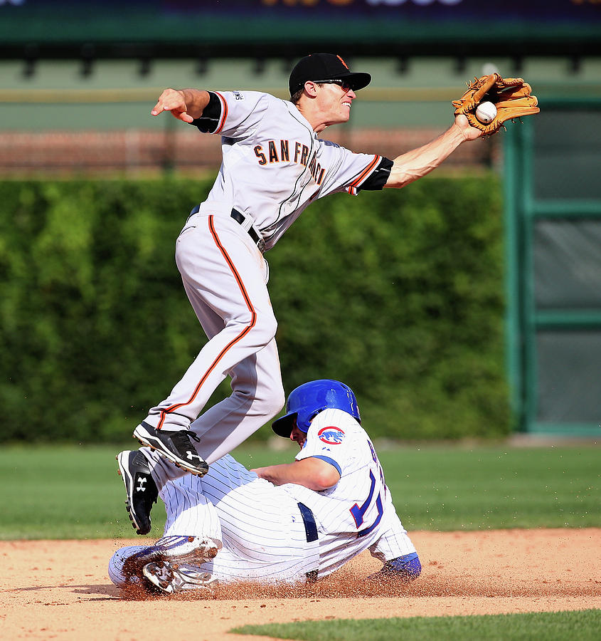 Kelby Tomlinson and Kris Bryant Photograph by Jonathan Daniel