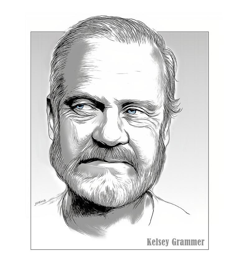 Kelsey Grammer Drawing - Kelsey by Greg Joens