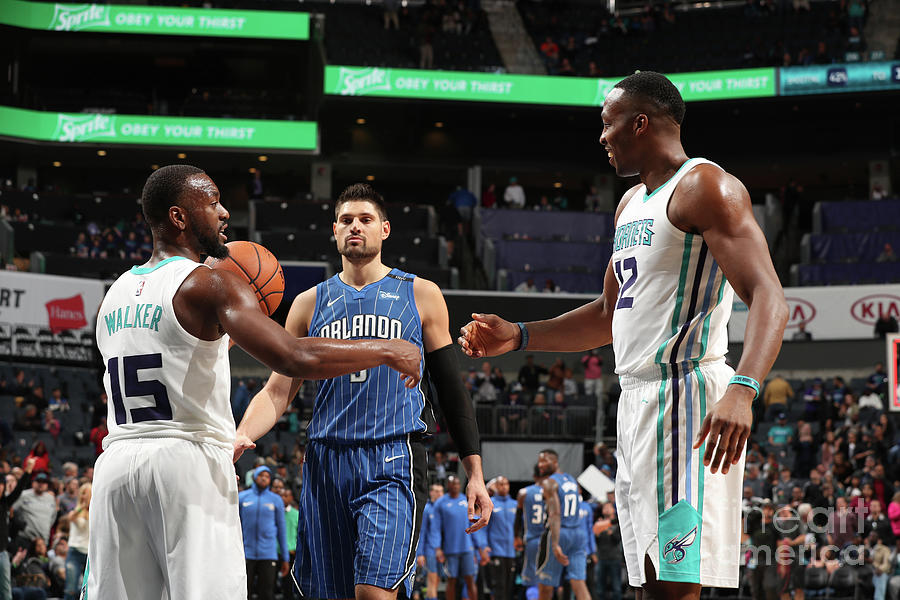 Kemba Walker and Dwight Howard Photograph by Kent Smith