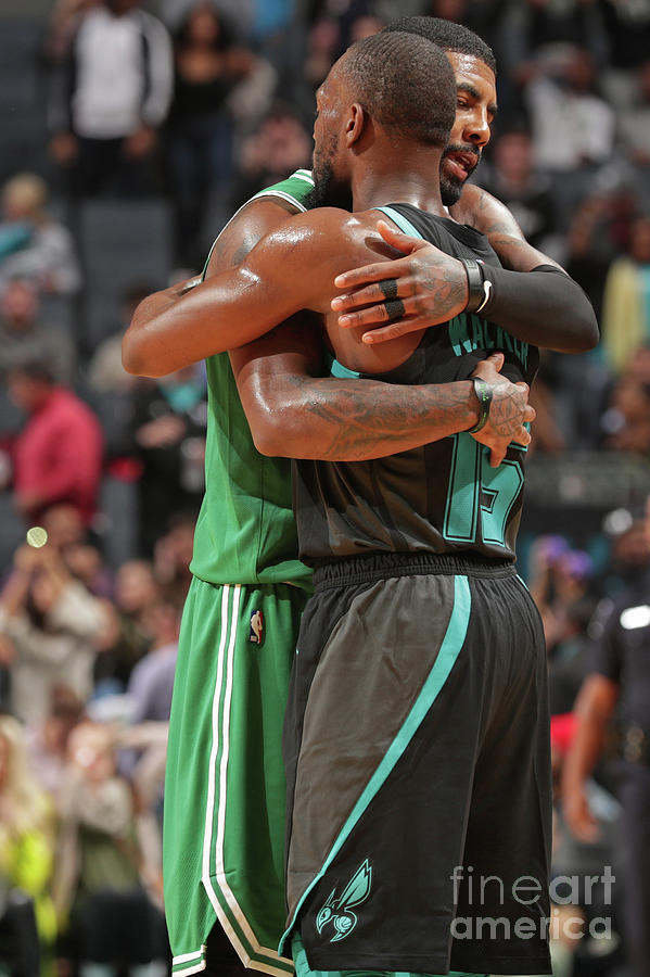 Kemba Walker and Kyrie Irving Photograph by Kent Smith