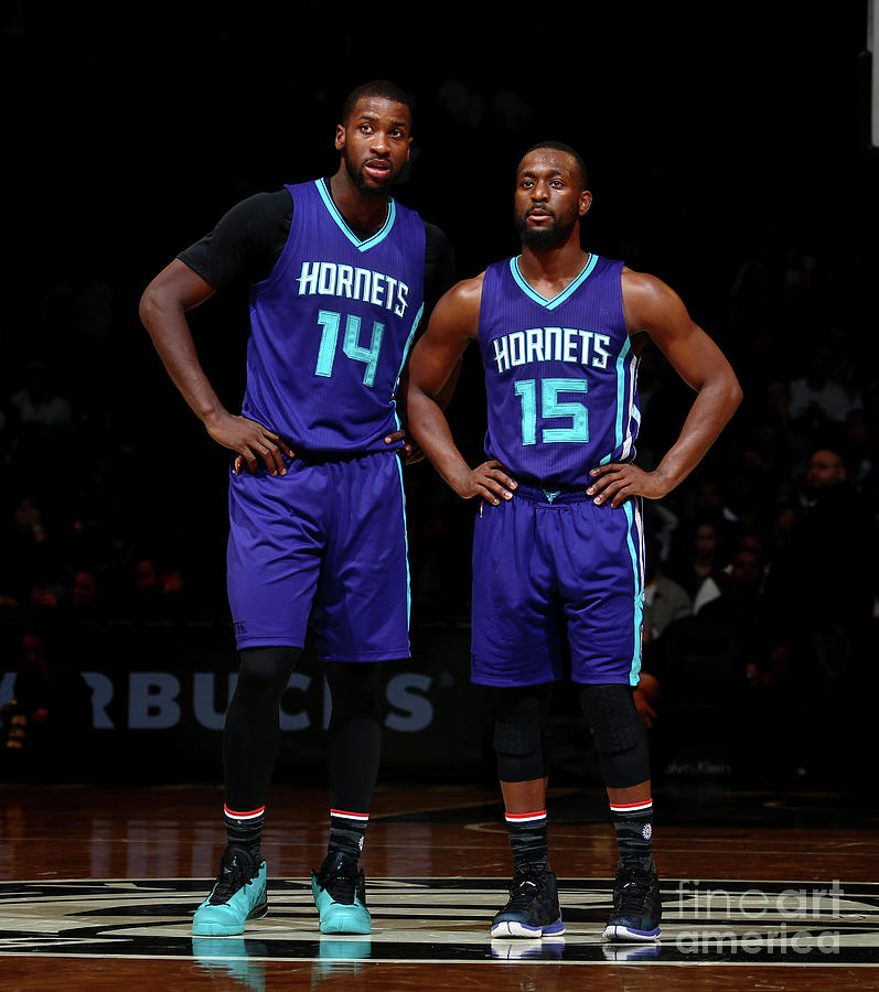 Kemba Walker and Michael Kidd-gilchrist Photograph by Nathaniel S. Butler