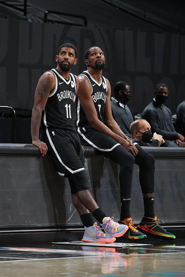 Kevin Durant and Kyrie Irving Photograph by Nathaniel S. Butler