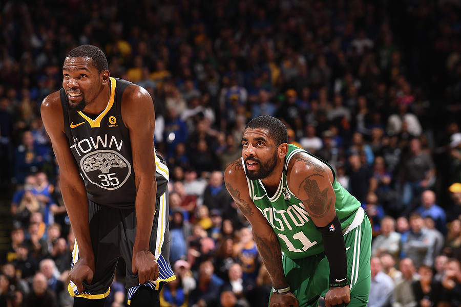 Kevin Durant and Kyrie Irving Photograph by Noah Graham