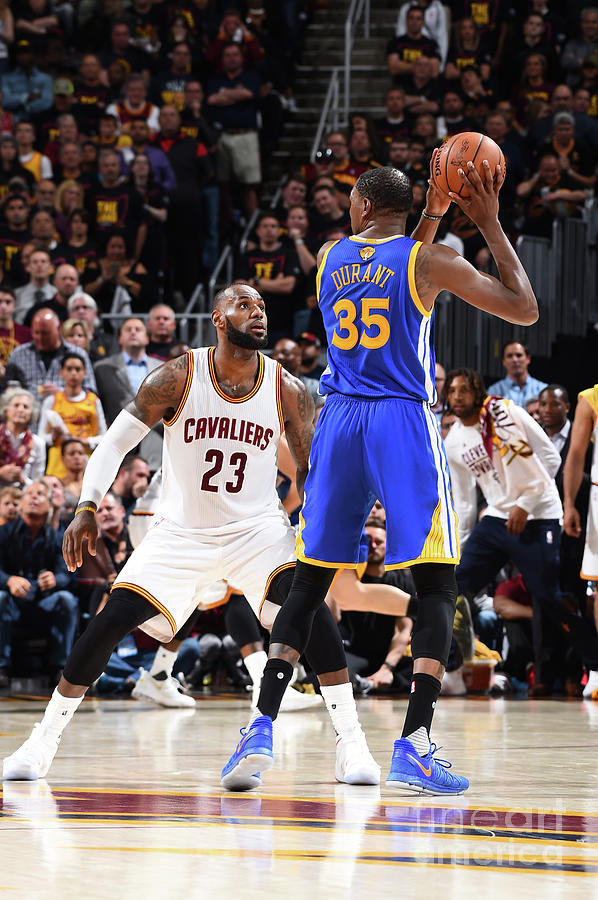 Kevin Durant and Lebron James Photograph by Andrew D. Bernstein