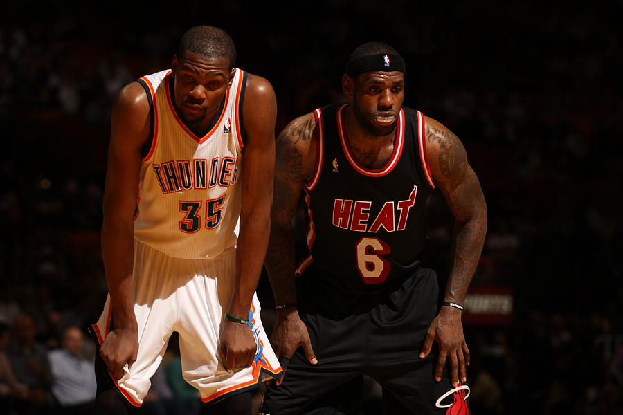 Kevin Durant and Lebron James Photograph by Issac Baldizon