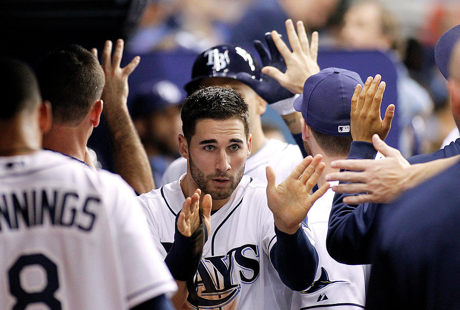 Kevin Kiermaier and James Loney Photograph by Brian Blanco