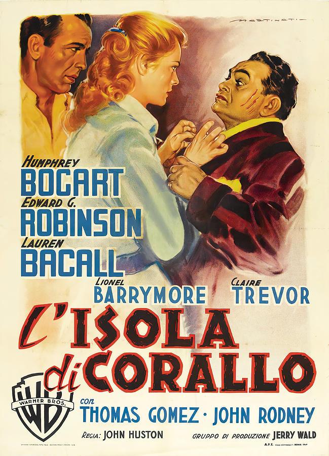 key Largo, With Humphrey Bogart And Lauren Bacall, 1948 - 4 Mixed Media