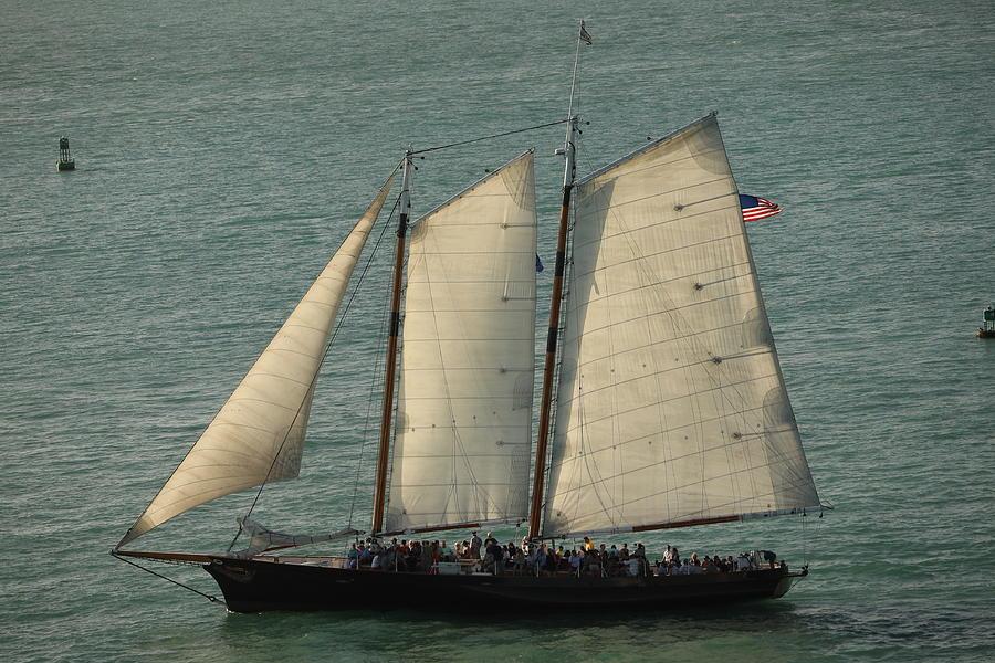 Key West Sunset Sailing by Blair Damson