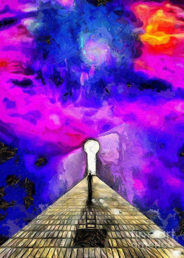 Keyhole In Space Digital Art