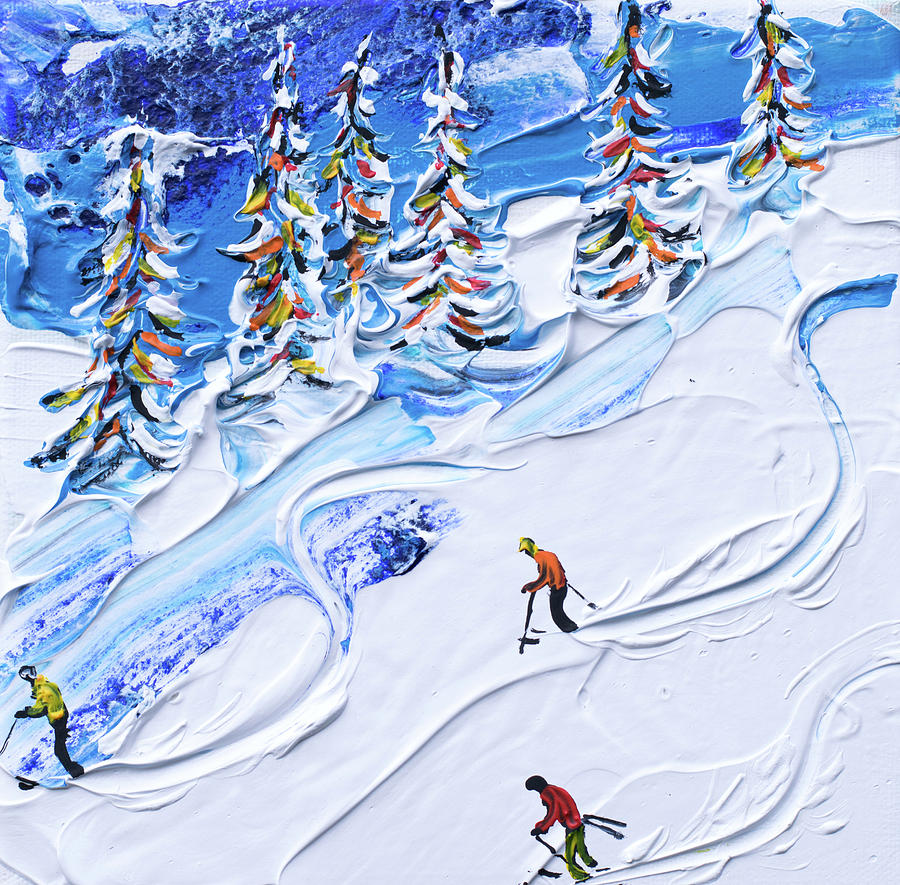 Keystone Ski Print North South Bowl by Pete Caswell