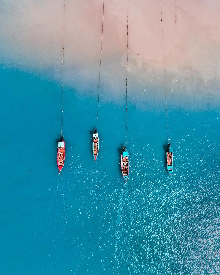 Boats Photograph - Khao Lak Paradise by Nihab Rahman