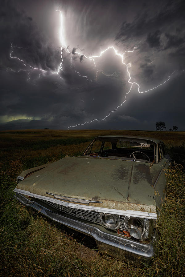 Lightning Photograph - Kickstart My Heart  by Aaron J Groen