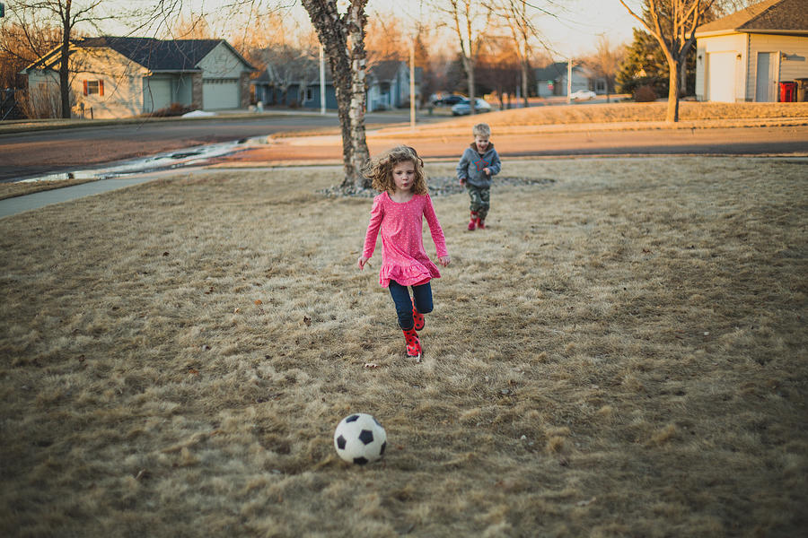 Kids Playing Soccer Photograph by Annie Otzen