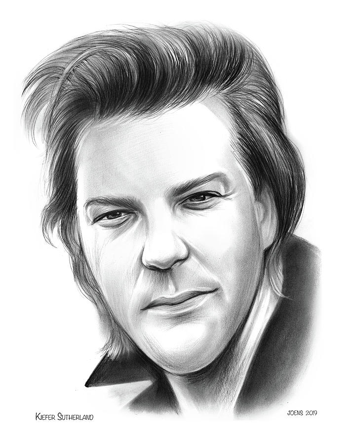 Kiefer Sutherland Drawing - Kiefer Sutherland by Greg Joens