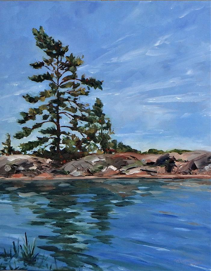 Nature Painting - Killarney Channel by Monica Ironside