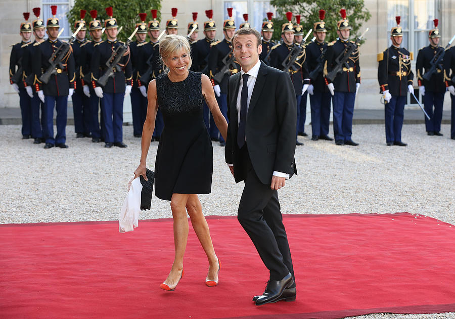 King Felipe Of Spain and Queen Letizia Of Spain On Official Visit In France : Day 1 Photograph by Jean Catuffe