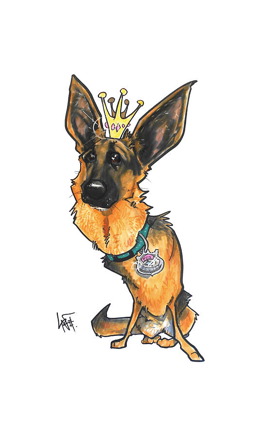 King German Shepherd Drawing