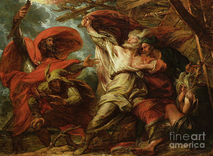 King Painting - King Lear by Benjamin West